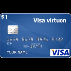 ویزا کارت ۱ دلاری