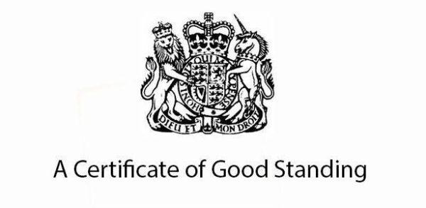 گواهی ثبت شرکت در انگلستان